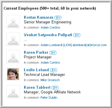 LinkedIn Company Employees